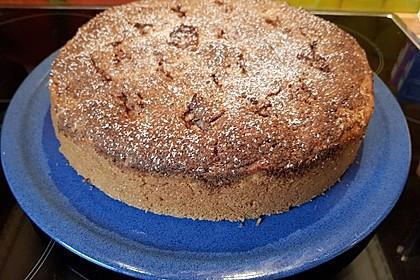 Zuckerfreier Apfelkuchen mit Mandelkruste (Bild)