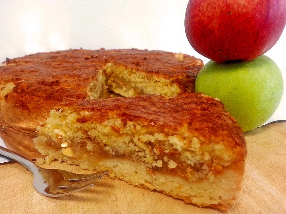 Zuckerfreier Apfelkuchen Mit Mandelkruste Von Mircili Chefkoch De