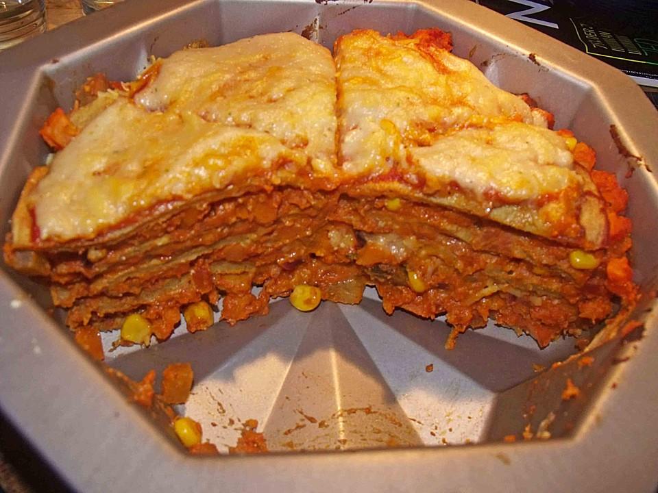 Herzhafte Vegane Pfannkuchen Torte Von Guineesbiggetje Chefkoch De