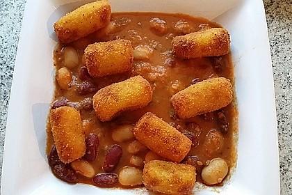Bohnen-Kroketten-Eintopf