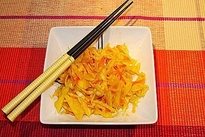 Feuervogels chinesischer Weißkohlsalat 1