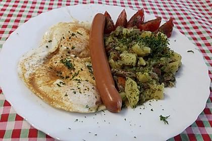 Kartoffelsalat mit Speck und ohne Mayonaise (Bild)