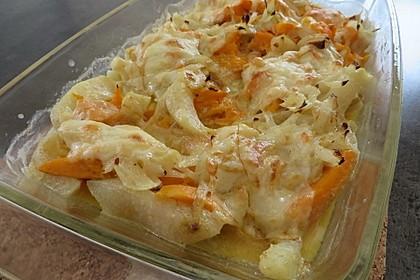 Süßkartoffel-Kohlrabi-Gratin 1
