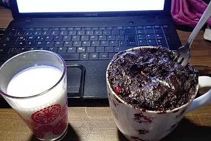 Schneller Schokoladen-Nutella-Tassenkuchen 10