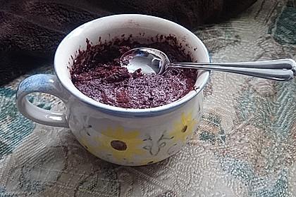 Schneller Schokoladen-Nutella-Tassenkuchen 6