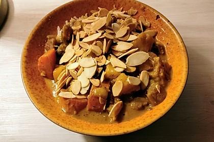 Süßkartoffelcurry mit karamellisierter Ananas 5