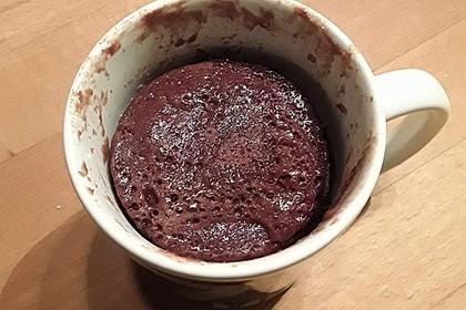 Schokoladiger Tassenkuchen aus der Mikrowelle 1