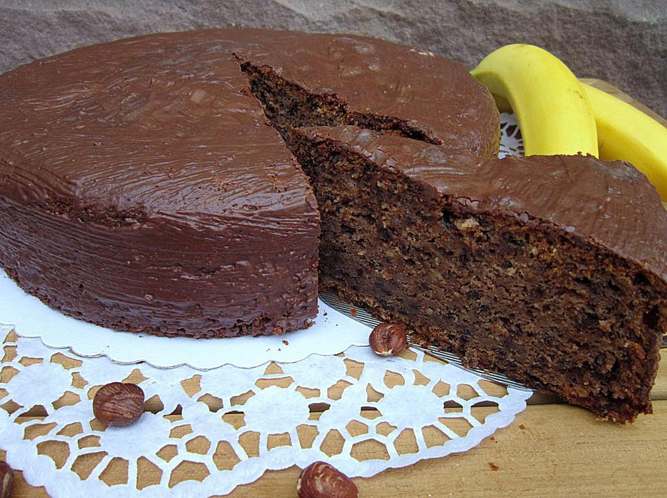 Bananenkuchen Mit Schokolade Von Trekneb Chefkoch De
