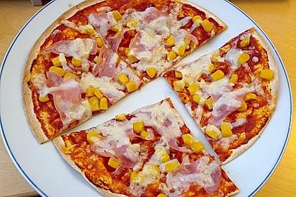 Tortilla-Pizza, besonders fettarm 1