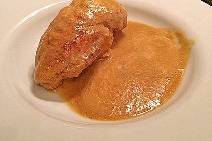 Hähnchenbrustfilets in Rotwein-Buttermilch-Sauce (Bild)