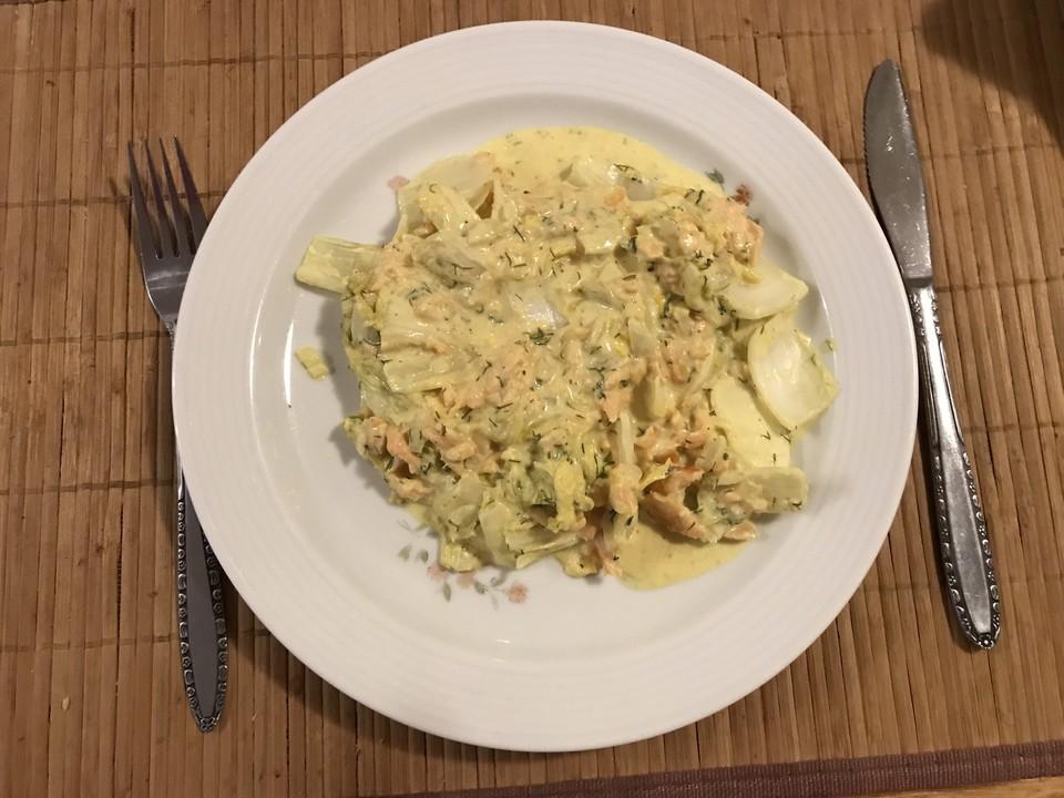 Chinakohl Mit Lachs Auf Die Schnelle Art Von Binis Chefkochde