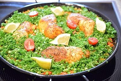 Einfache Paella mit Chorizo und Hähnchenkeulen 7