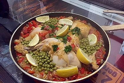Einfache Paella mit Chorizo und Hähnchenkeulen 5
