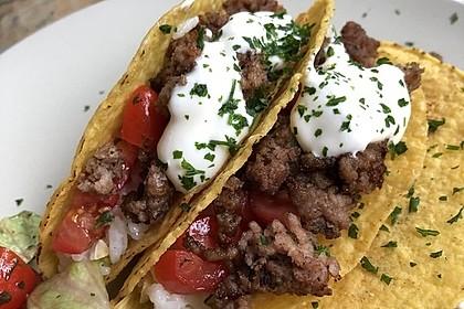 Mais-Tacos mit Kokos-Limettenreis und Hackfleisch (Bild)
