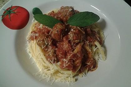 Scharfe Hackfleischbällchen mit Spaghetti 2