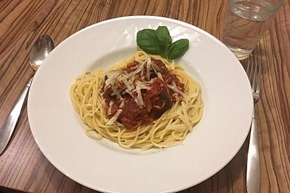 Scharfe Hackfleischbällchen mit Spaghetti 3