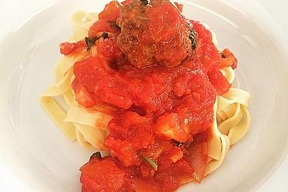 Scharfe Hackfleischbällchen mit Spaghetti 1
