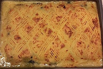 Spinat-Fischauflauf mit Kartoffelpüreekruste