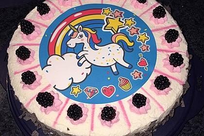 Brombeer-Stracciatella-Torte