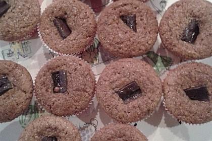 Saftige Lebkuchenmuffins mit Dominosteinfüllung 1