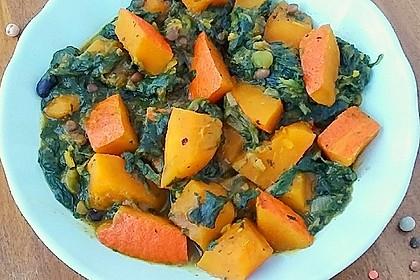 Kürbis-Spinat-Curry 2