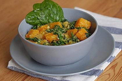 Kürbis-Spinat-Curry