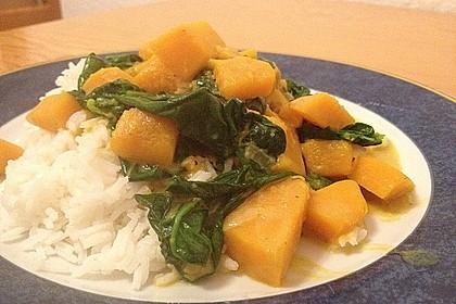 Kürbis-Spinat-Curry 3