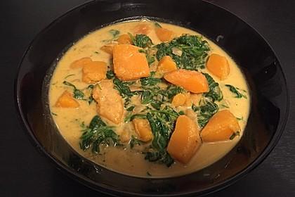 Kürbis-Spinat-Curry 4