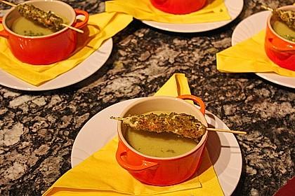 Süße Suppe trifft scharfes Chicken