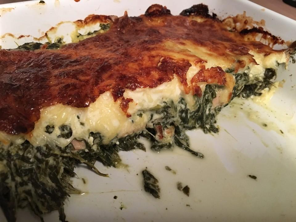 Lachs Spinat Feta Lasagne Von Humanbug Chefkoch