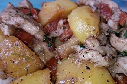 Knusprige Hähnchenbrust mit Möhrengemüse 12