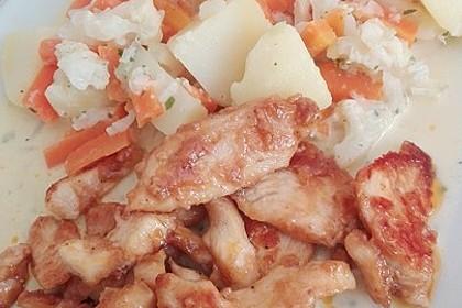Knusprige Hähnchenbrust mit Möhrengemüse 18
