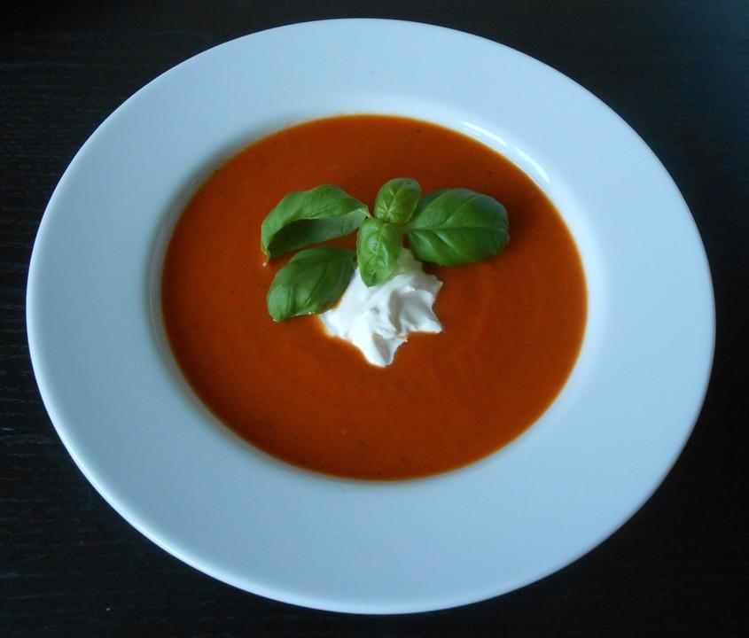 Tomatensuppe Aus Frischen Tomaten Von Juliahr Chefkoch