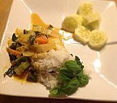 Rotes Thai-Curry wie beim Thailänder (Bild)