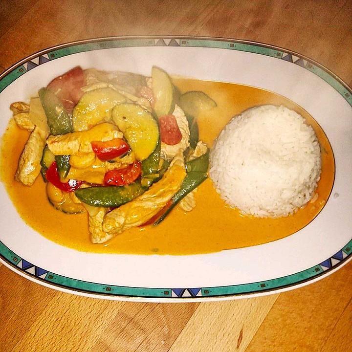 Rotes Thai Curry Wie Beim Thailänder Von Xxsimi92xx Chefkoch