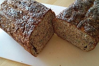 Low-Carb Brot mit Sonnenblumenkernen 74