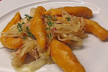 Schupfnudeln aus Süßkartoffeln