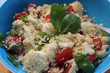 Couscous - Salat mit Tomaten & Mozarella 6