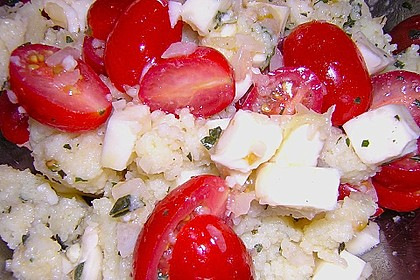 Couscous - Salat mit Tomaten & Mozarella 15