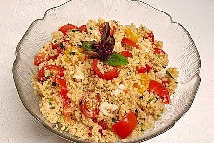 Couscous - Salat mit Tomaten & Mozarella 2