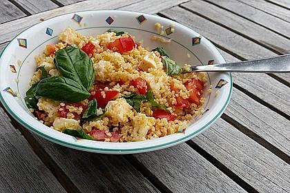 Couscous - Salat mit Tomaten & Mozarella