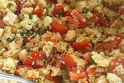 Couscous - Salat mit Tomaten & Mozarella 7