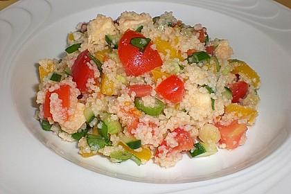 Couscous - Salat mit Tomaten & Mozarella 4