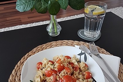 Couscous - Salat mit Tomaten & Mozarella 9