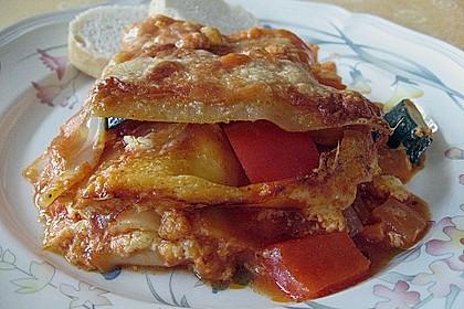 Lasagne mit buntem Gemüse 3