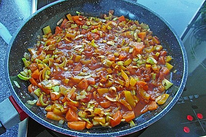 Lasagne mit buntem Gemüse 15