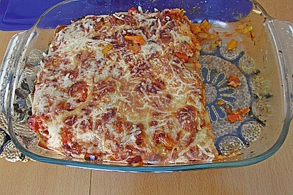 Lasagne mit buntem Gemüse 16