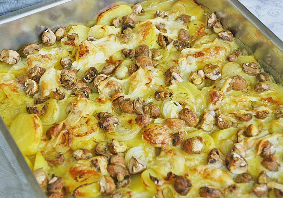 Schnelles Saftiges Kartoffel Pilz Gratin Von Bine66 Chefkoch