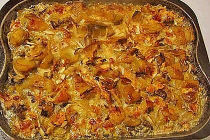 Schnelles saftiges Kartoffel - Pilz - Gratin 7