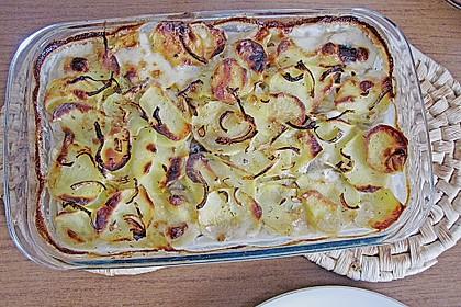 Schnelles saftiges Kartoffel - Pilz - Gratin 8